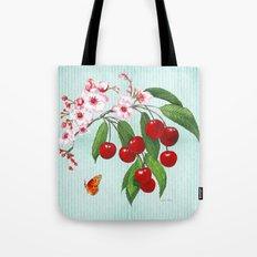 Cherries on Vintage  Tote Bag