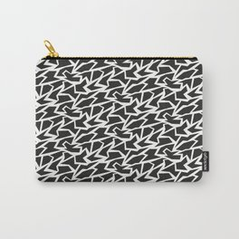 Black and White Polygons Carry-All Pouch