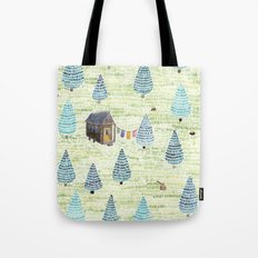 Tiny House in the Big Woods Tote Bag