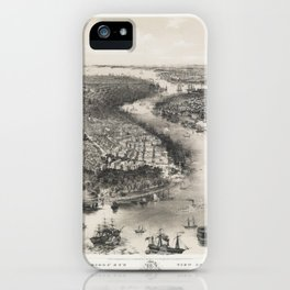 Bird's Eye View of New York and Brooklyn,1851 iPhone Case