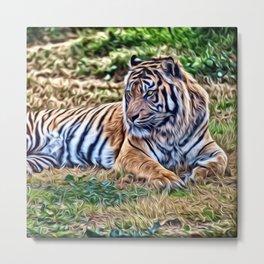 Painted Tiger 12218 Metal Print