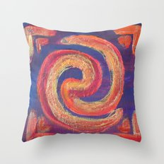Circle of Fire Throw Pillow