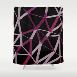 3D Futuristic GEO Lines IV Shower Curtain