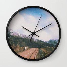 Running Away Wall Clock