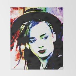 Boy George - Karma Chameleon - Pop Art Throw Blanket