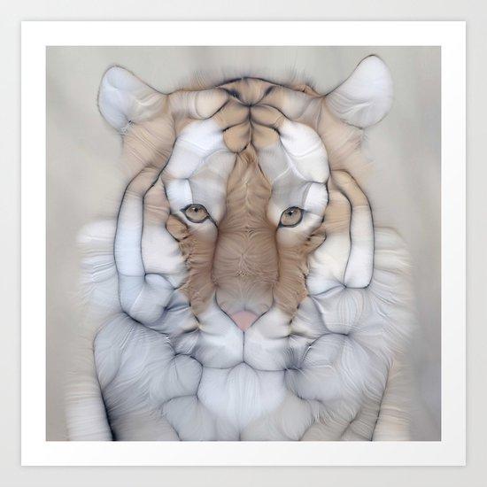 tiger wild Art Print