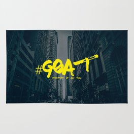 G.O.A.T (Greatest Of All Time) Urban Font Rug