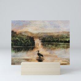 A feeling of peace.  Original Watercolor Landscape. Mini Art Print