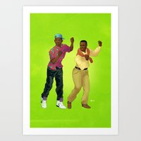 fresh prince Art Prints featuring Fresh Prince by Dave Collinson
