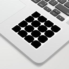 Retro '50s Shapes in Black and White Sticker