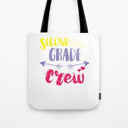 Second Grade Crew Back To School Studying Gifts Tote Bag