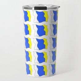 flag of canary islands-canaries,canary,atlantic,canarias,Canarian,canario,canaria,spain,spanish, Travel Mug