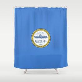 flag of Boston Shower Curtain