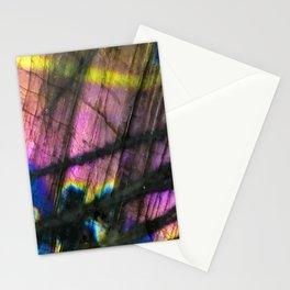 Labradorite and All it's Colors Blue Pink Yellow Purple Flash Magic Vibrant Abundance Stationery Cards