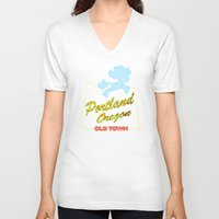 mlp V-neck T-shirts featuring MLP PDX by Kimball Gray