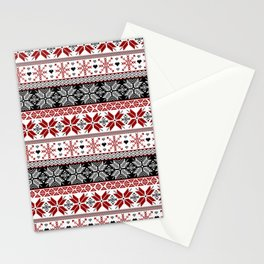 Winter Fair Isle Pattern Stationery Cards