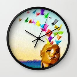 Frybrary Landscape Painting by Jeanpaul Ferro Wall Clock