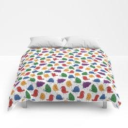 Doodle Birds Pattern Comforters