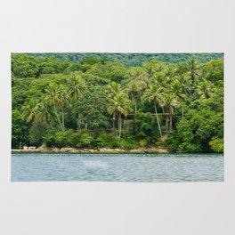 House in a Island Rug