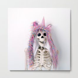 Skellie is a Unicorn Metal Print