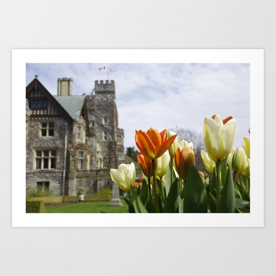 Castle Tulips Art Print