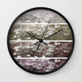 Vincent Van Gogh Almond Blossoms Brown Beige Panel Wall Clock