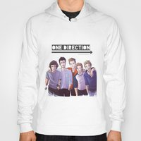 one direction Hoodies featuring One Direction by Nowhere Little Girl