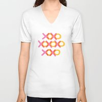 xoxo V-neck T-shirts featuring XOXO by ghennah