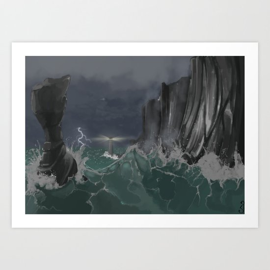 Raging Sea Art Print