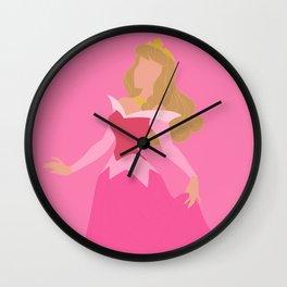 Sleeping Beauty - Pink Wall Clock