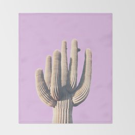 pink, saguro, California photography, California Wall Art, Palm Springs Throw Blanket