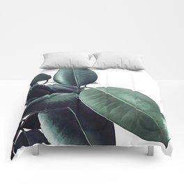 Ficus Elastica #18 #White #foliage #decor #art #society6 Comforters