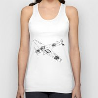 airplane Tank Tops featuring Airplane diagram by marcusmelton