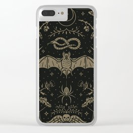 Cemetery Nights Clear iPhone Case