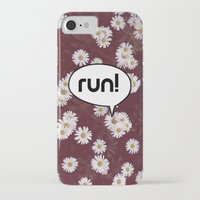 run iPhone & iPod Cases featuring run by Mimy