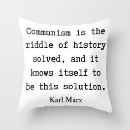 15    Karl Marx Quotes   190817 Throw Pillow