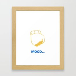 Draymond's Mood Framed Art Print
