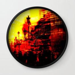 1st arrondissement-red Wall Clock