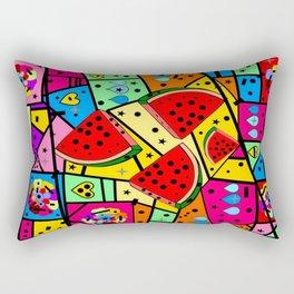 Watermelon Popart by Nico bielow Rectangular Pillow