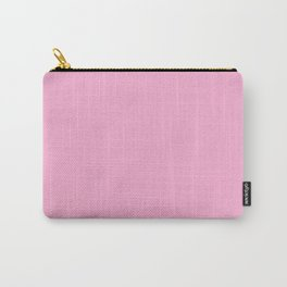 Lavender Pink Color Solid Block Carry-All Pouch
