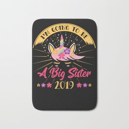 BIG SISTER: Going To Be A Big Sister 2019 Announcement Pregnancy Daughter Bath Mat