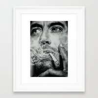 robert farkas Framed Art Prints featuring Robert by broken colors