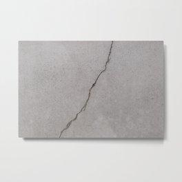 cracked concrete texture - cement stone Metal Print