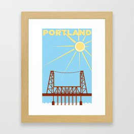 PDX Travel / Bridge Framed Art Print