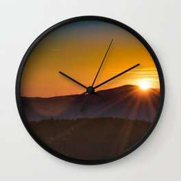 Mountain Sunrise at Massanutten Wall Clock
