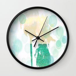 Ocean Palms Beach Print Wall Clock