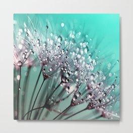 Dandelion Blue Diamonds Metal Print