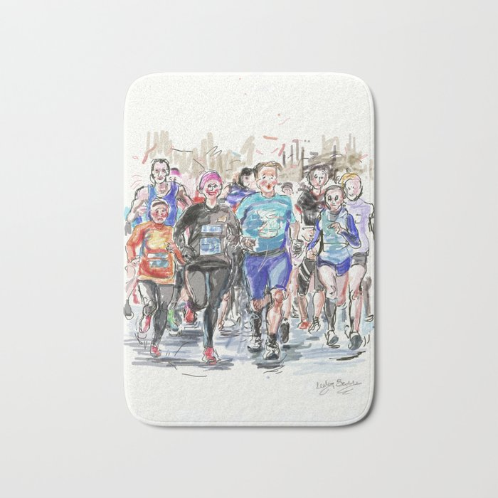 Runners Jogging Bath Mat