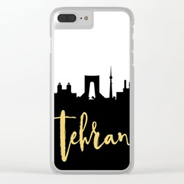 TEHRAN IRAN DESIGNER SILHOUETTE SKYLINE ART Clear iPhone Case