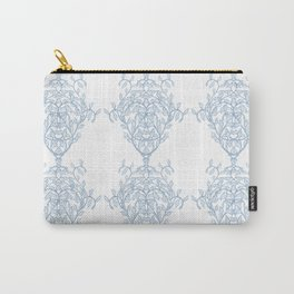 Baroque Sky Blue Vines Carry-All Pouch